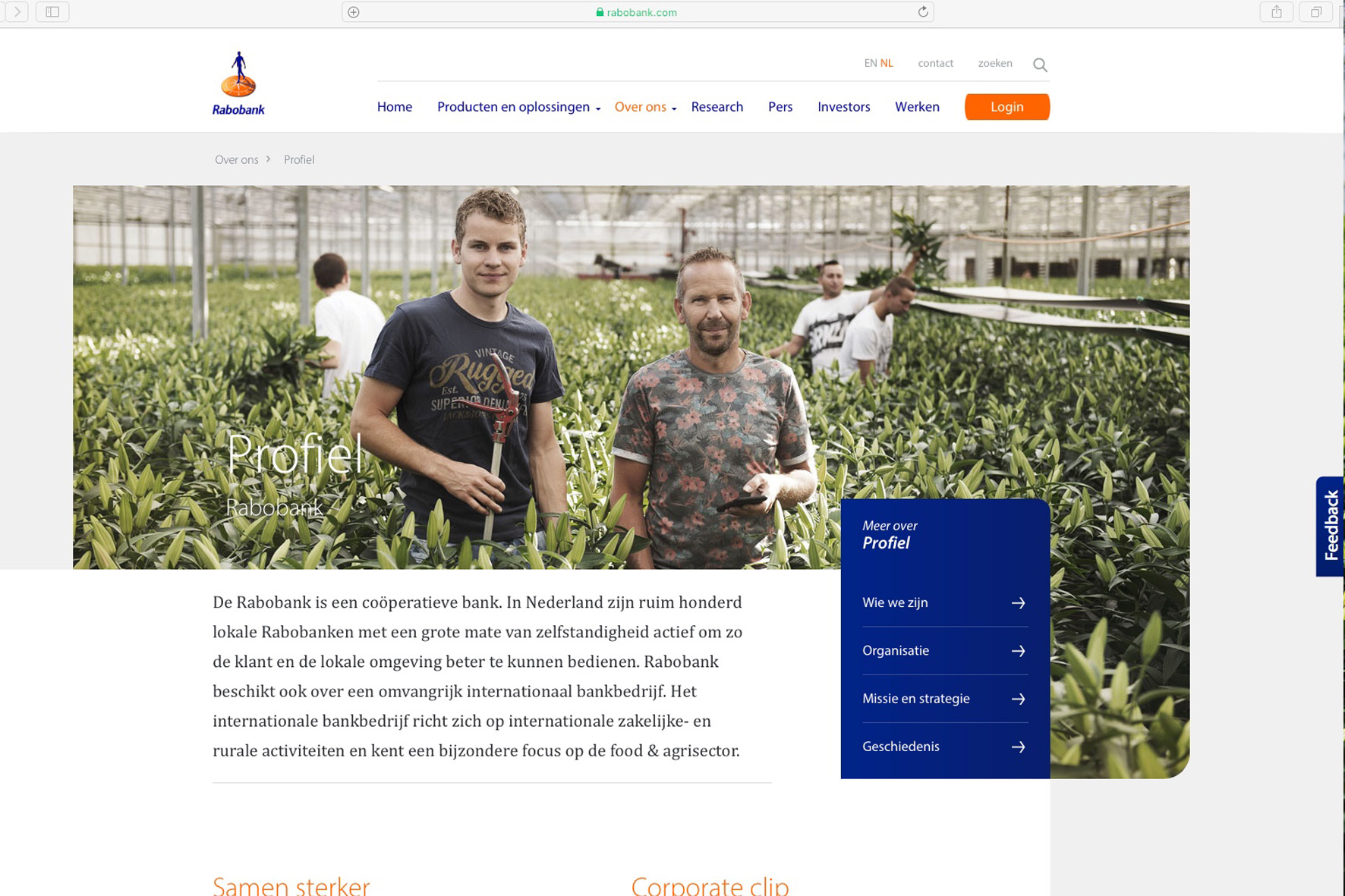 Rabobank, corporate campagne>Growing A Better World Togeher>december 2019